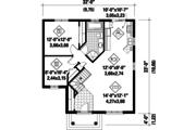 Classical Style House Plan - 2 Beds 1 Baths 984 Sq/Ft Plan #25-4642 Floor Plan - Main Floor Plan