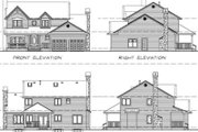Traditional Style House Plan - 4 Beds 2.5 Baths 2142 Sq/Ft Plan #47-387 Exterior - Rear Elevation