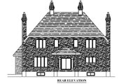 European Style House Plan - 4 Beds 2.5 Baths 3287 Sq/Ft Plan #138-333 Exterior - Rear Elevation