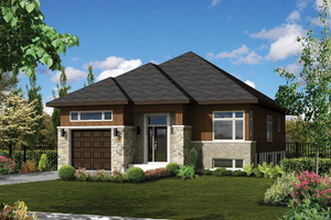 Contemporary Exterior - Front Elevation Plan #25-4370