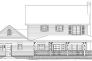Farmhouse Style House Plan - 3 Beds 2.5 Baths 1840 Sq/Ft Plan #11-202 Exterior - Rear Elevation