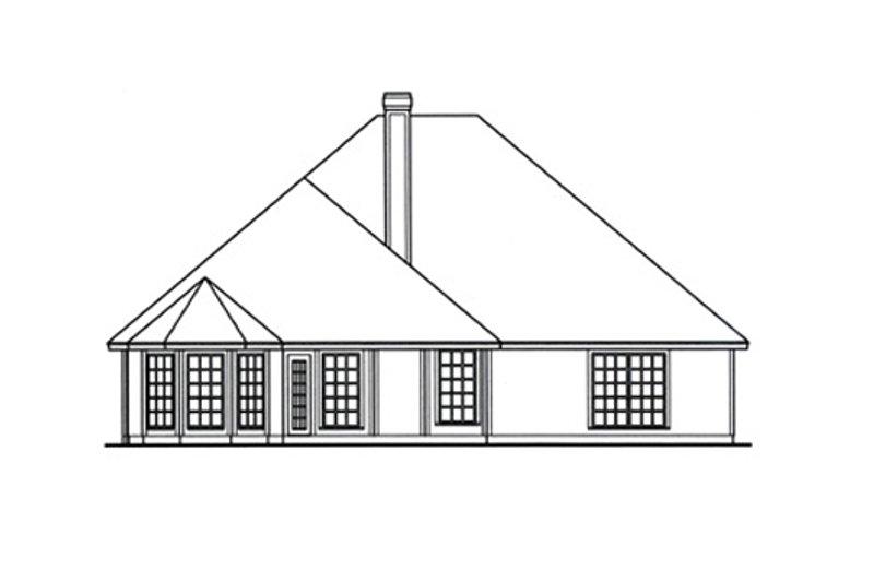 Traditional Exterior - Rear Elevation Plan #42-388 - Houseplans.com