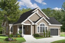 Country Exterior - Front Elevation Plan #23-2529