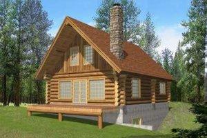 Log Exterior - Front Elevation Plan #117-494