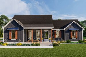 Country Exterior - Front Elevation Plan #406-9659