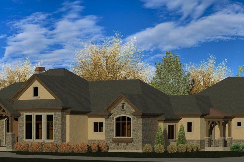 House Plan Design - European Exterior - Front Elevation Plan #920-77