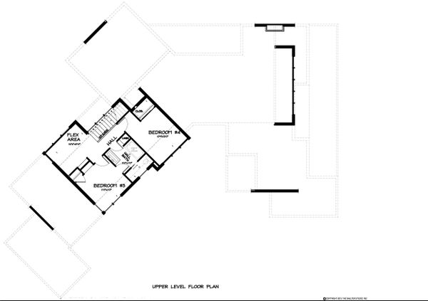 Contemporary Floor Plan - Upper Floor Plan Plan #895-27