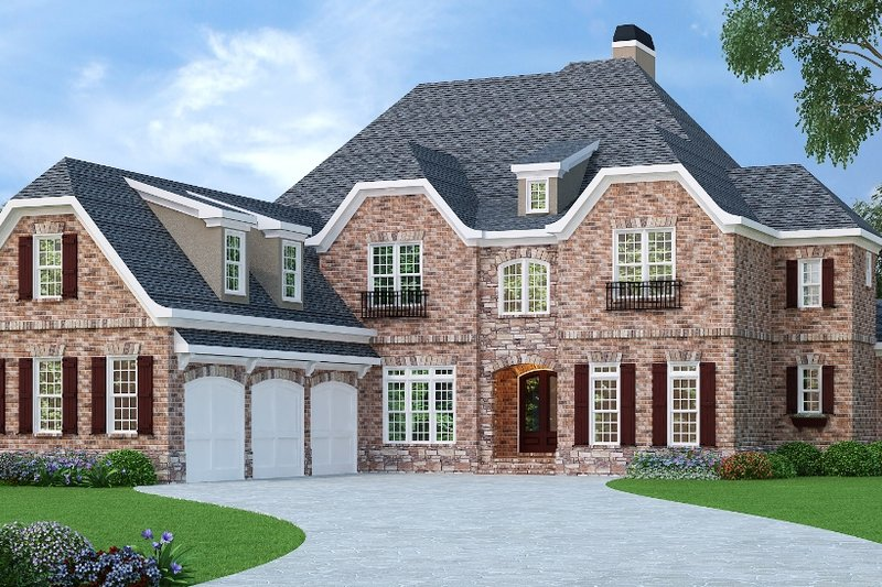 Dream House Plan - European Exterior - Front Elevation Plan #419-240