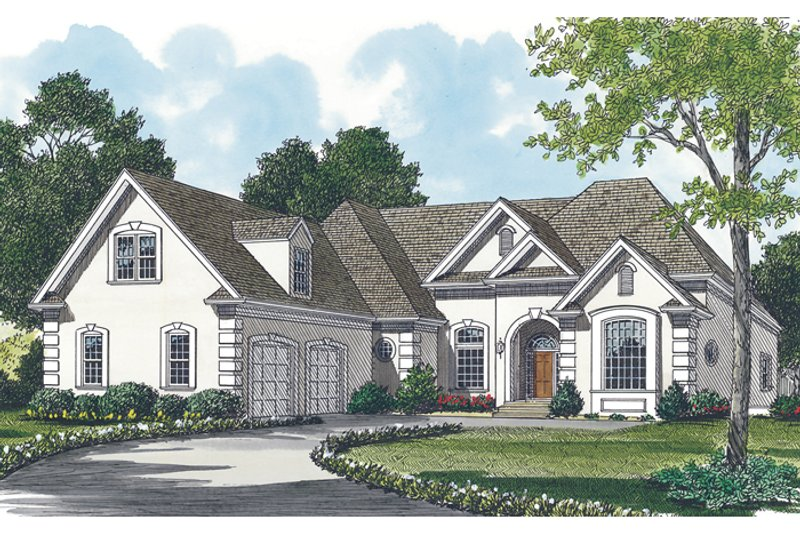 Traditional Style House Plan - 3 Beds 2.5 Baths 2585 Sq/Ft Plan #453-31 Exterior - Front Elevation