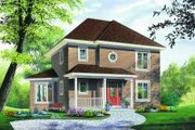 Traditional Style House Plan - 3 Beds 2 Baths 1662 Sq/Ft Plan #23-340 Exterior - Other Elevation
