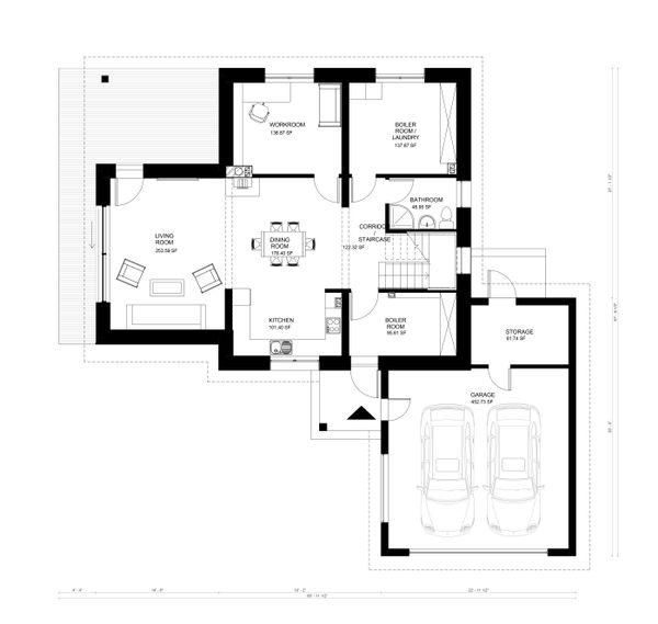 Contemporary Floor Plan - Main Floor Plan Plan #906-12