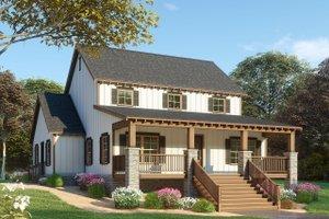 Farmhouse Exterior - Front Elevation Plan #923-91