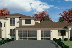 Dream House Plan - Mediterranean Exterior - Front Elevation Plan #1066-111