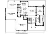 Modern Style House Plan - 3 Beds 3.5 Baths 2950 Sq/Ft Plan #70-1284 Floor Plan - Main Floor Plan