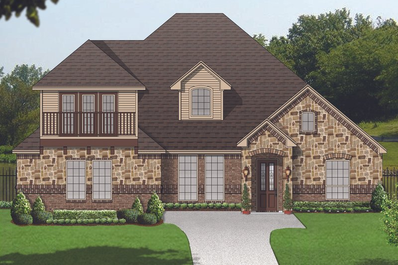 Traditional Style House Plan - 3 Beds 3 Baths 3040 Sq/Ft Plan #84-610 Exterior - Front Elevation