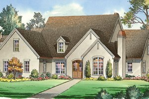 Traditional Exterior - Front Elevation Plan #490-21