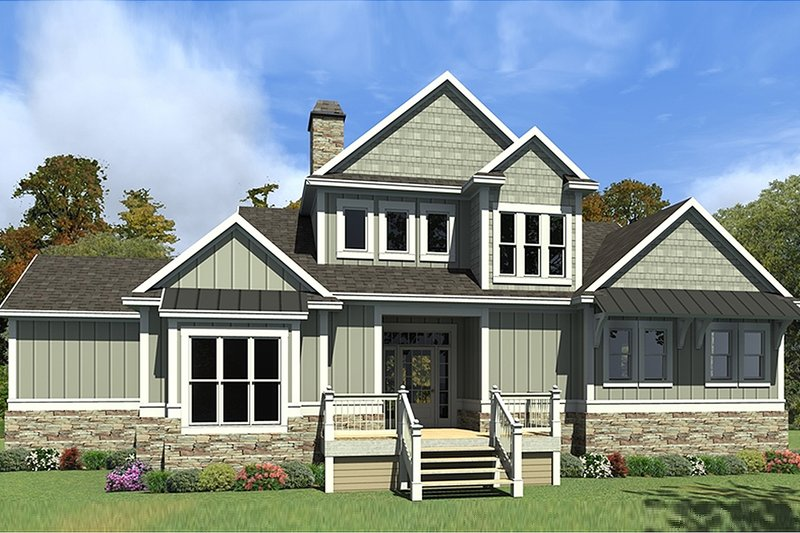 House Plan Design - Craftsman Exterior - Front Elevation Plan #63-424