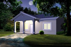 Mediterranean Exterior - Front Elevation Plan #1-111