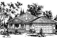 House Blueprint - Ranch Exterior - Front Elevation Plan #18-117