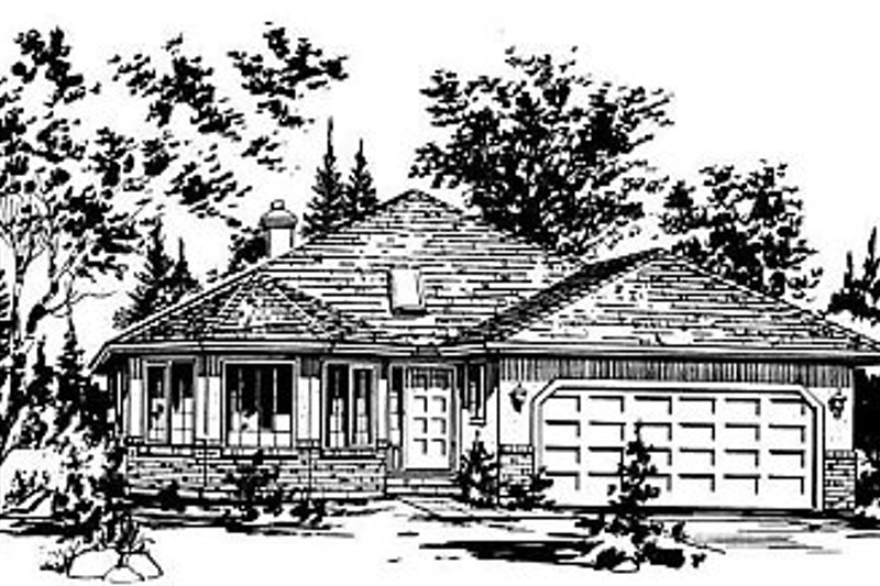 Ranch Exterior - Front Elevation Plan #18-117