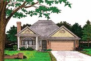 Country Style House Plan - 3 Beds 2 Baths 1376 Sq/Ft Plan #310-751 Exterior - Front Elevation