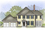 Farmhouse Style House Plan - 3 Beds 3.5 Baths 2412 Sq/Ft Plan #901-92 Exterior - Front Elevation