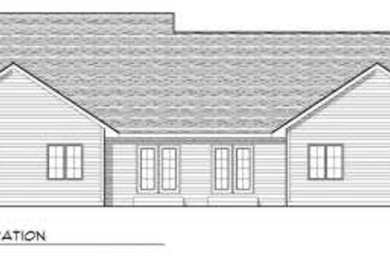 Traditional Exterior - Rear Elevation Plan #70-746 - Houseplans.com