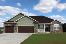 Traditional Exterior - Front Elevation Plan #20-2078