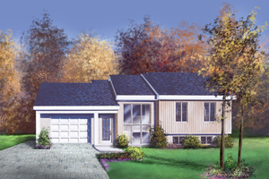 Ranch Exterior - Front Elevation Plan #25-4850