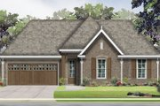 European Style House Plan - 3 Beds 2 Baths 1467 Sq/Ft Plan #424-407 Exterior - Front Elevation