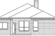 Traditional Style House Plan - 3 Beds 2 Baths 1404 Sq/Ft Plan #84-201 Exterior - Rear Elevation