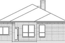 House Design - Traditional Exterior - Rear Elevation Plan #84-201