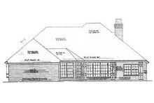 Home Plan - Traditional Exterior - Rear Elevation Plan #310-636
