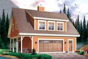 Country Style House Plan - 2 Beds 2 Baths 1096 Sq/Ft Plan #23-623 Exterior - Front Elevation