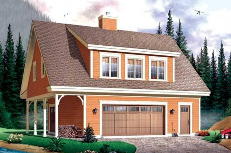 Country Exterior - Front Elevation Plan #23-623 - Houseplans.com