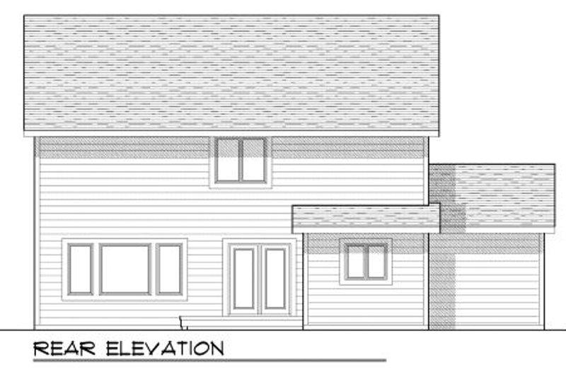 Craftsman Exterior - Rear Elevation Plan #70-952 - Houseplans.com