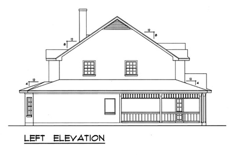 Country Exterior - Other Elevation Plan #40-438 - Houseplans.com