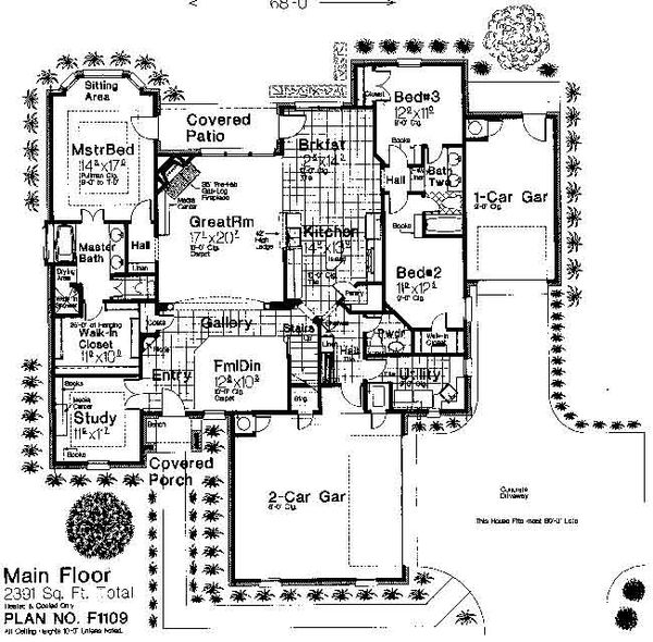 Traditional Floor Plan - Main Floor Plan Plan #310-677