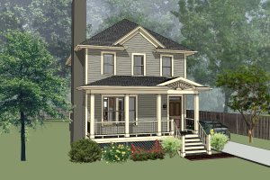 Southern Exterior - Front Elevation Plan #79-172