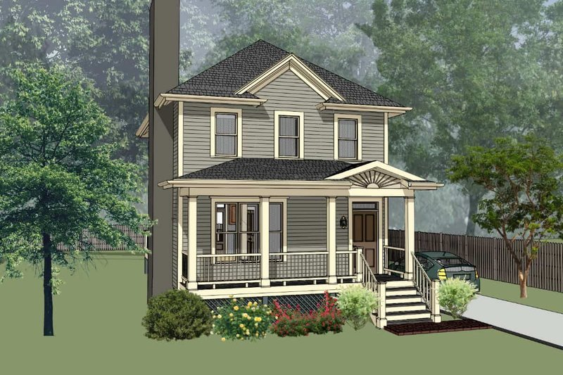 Dream House Plan - Southern Exterior - Front Elevation Plan #79-172