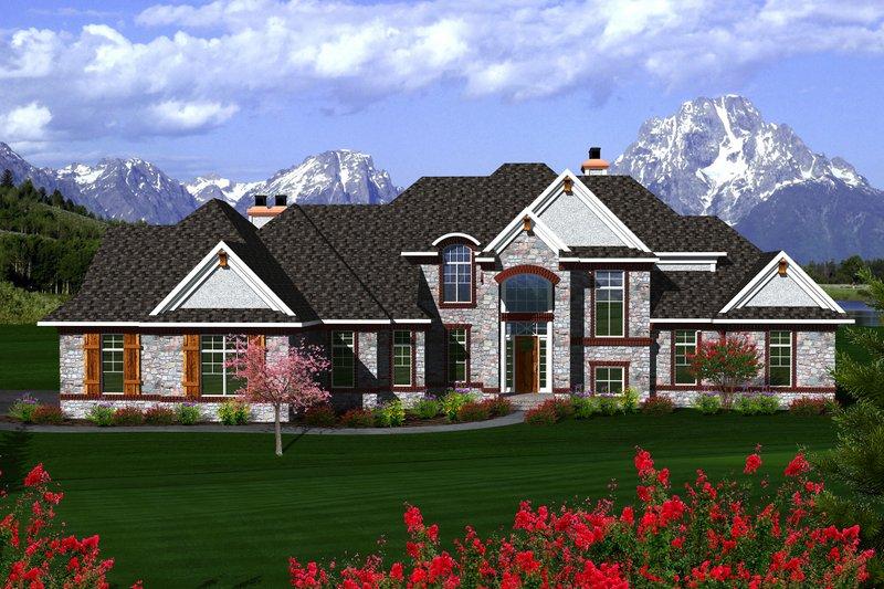 Dream House Plan - European Exterior - Front Elevation Plan #70-1145