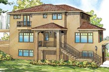 Architectural House Design - Mediterranean Exterior - Front Elevation Plan #124-863