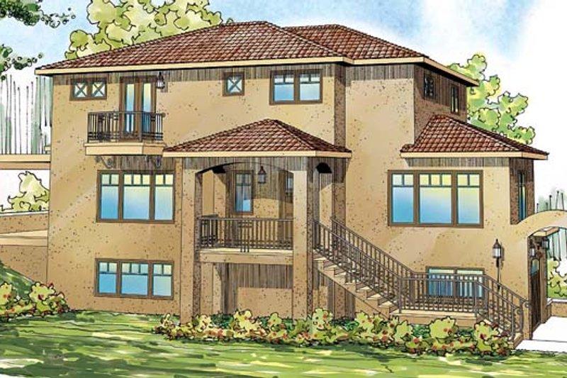 Home Plan - Mediterranean Exterior - Front Elevation Plan #124-863