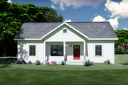 Farmhouse Style House Plan - 2 Beds 2 Baths 1035 Sq/Ft Plan #44-224 Exterior - Front Elevation
