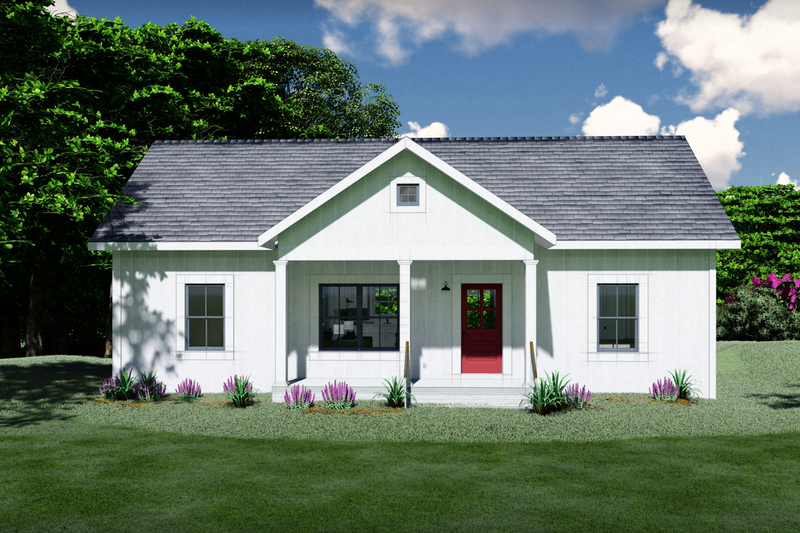 Home Plan - Farmhouse Exterior - Front Elevation Plan #44-224