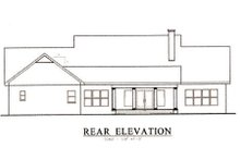 Southern Exterior - Rear Elevation Plan #44-111