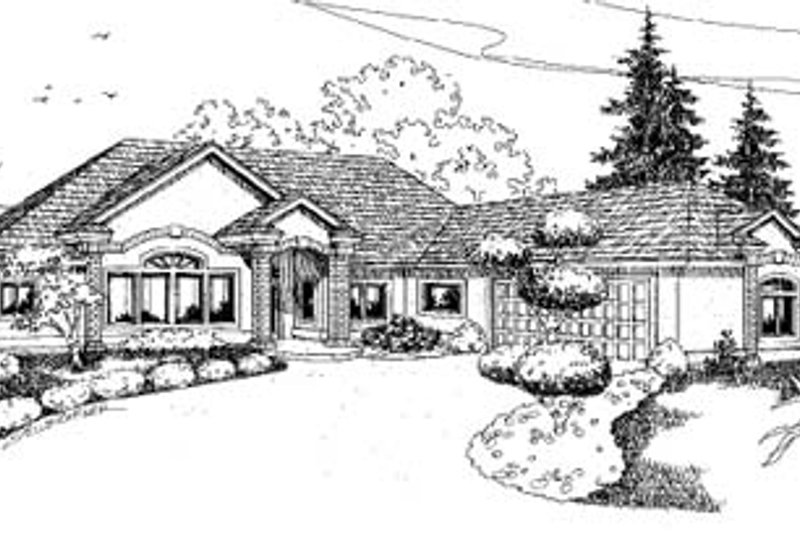 Dream House Plan - Traditional Exterior - Front Elevation Plan #60-591