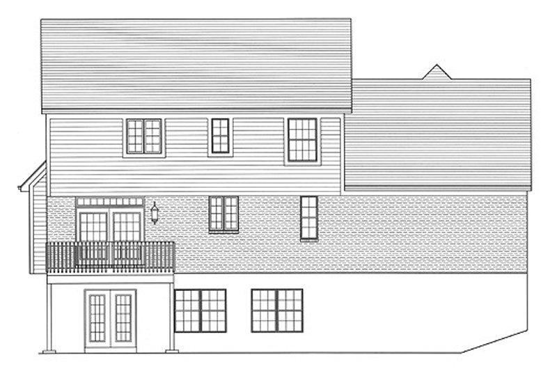 Traditional Exterior - Rear Elevation Plan #46-475 - Houseplans.com