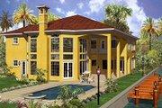 Mediterranean Style House Plan - 6 Beds 7.5 Baths 6714 Sq/Ft Plan #420-193 Exterior - Rear Elevation