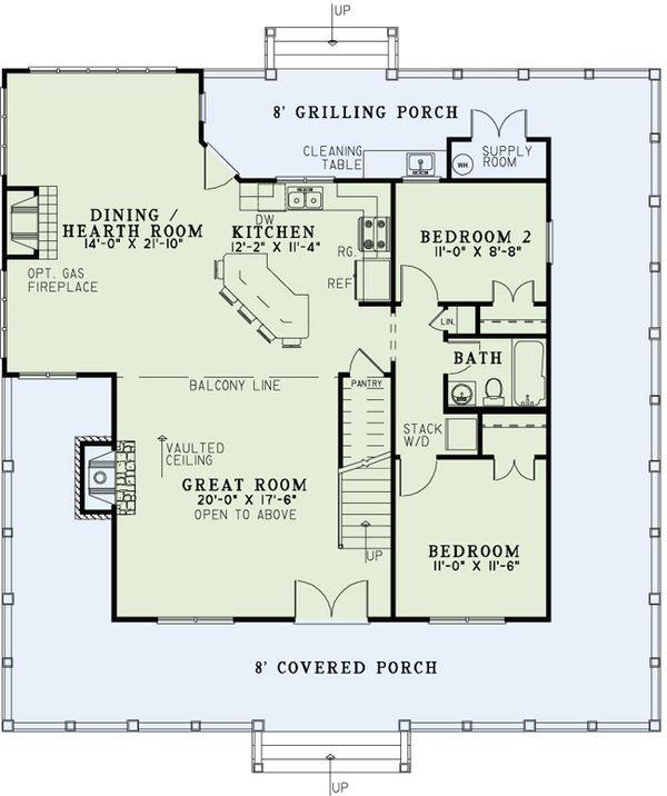 Country Floor Plan - Main Floor Plan #17-2517